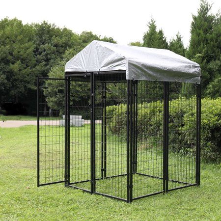 Jaxpety Outdoor Dog Kennel Steel Wire Cage Pet Pen Sun Cover Shade Run