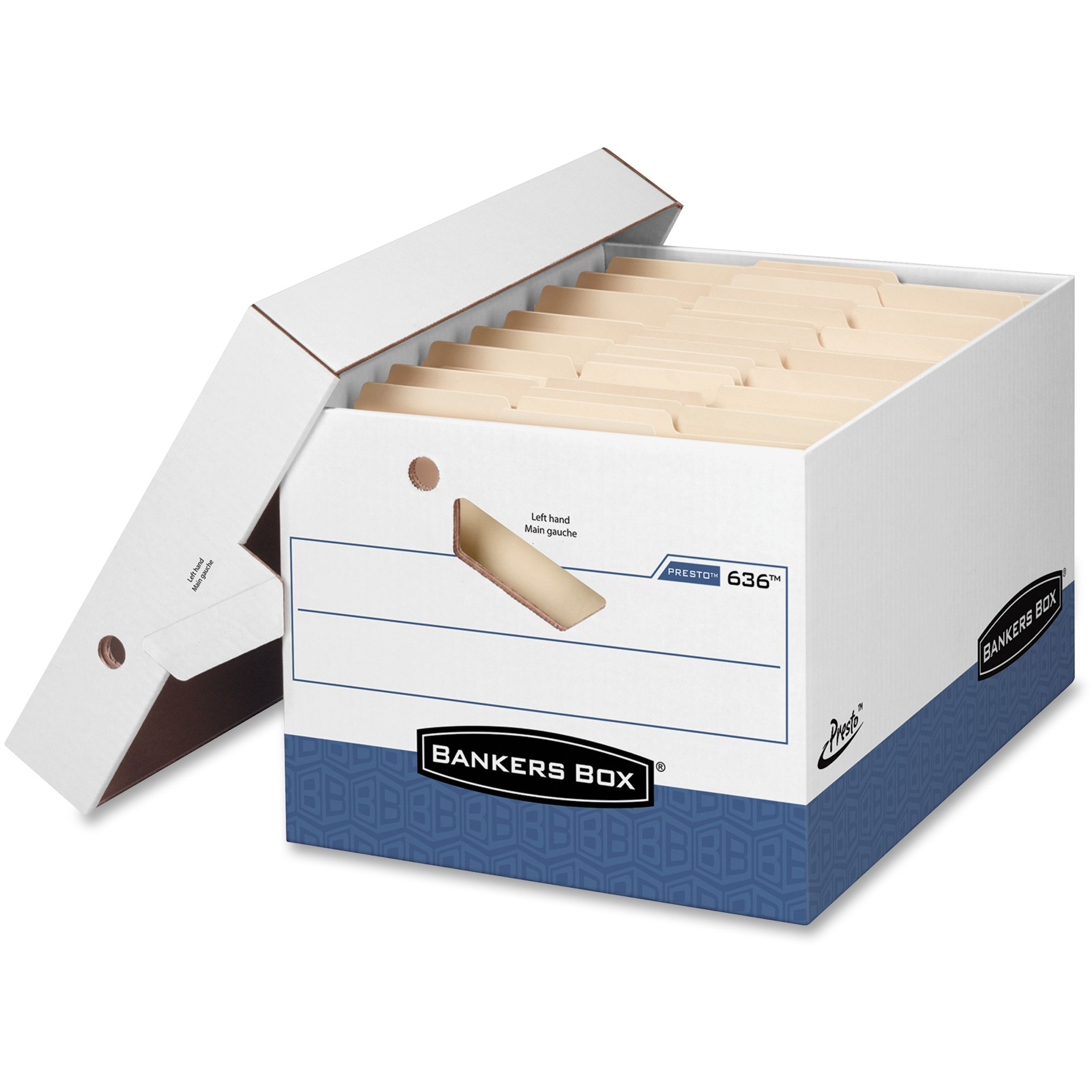 Bankers Box, FEL0063601, Presto Storage Box, Kraft,Blue