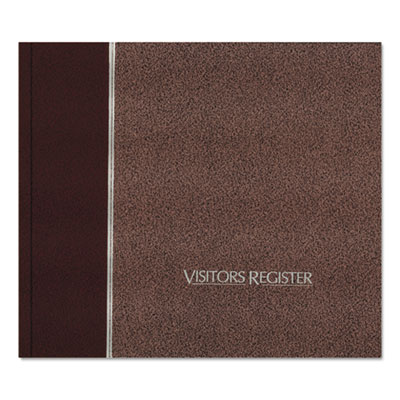 Visitor Register Book, Burgundy Hardcover, 128 Pages, 8 1 2 x 9 7 8, Sold as 1 Each by