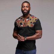 African Dashiki Men Print Tribal Shirt Succinct Hippie Top