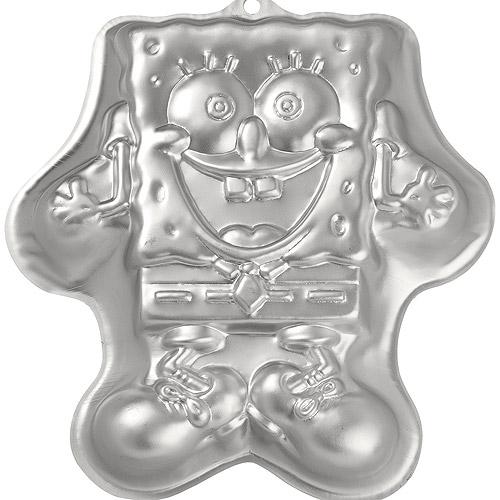 "Wilton Novelty 11""x12"" Shaped Cake Pan, SpongeBob 2105-5135"