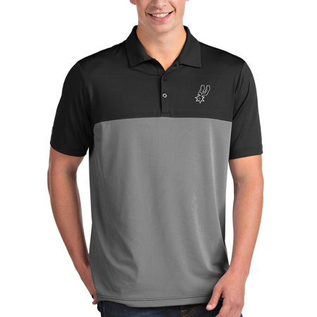 San Antonio Spurs Antigua Venture Polo - Black/White White San Antonio Spurs