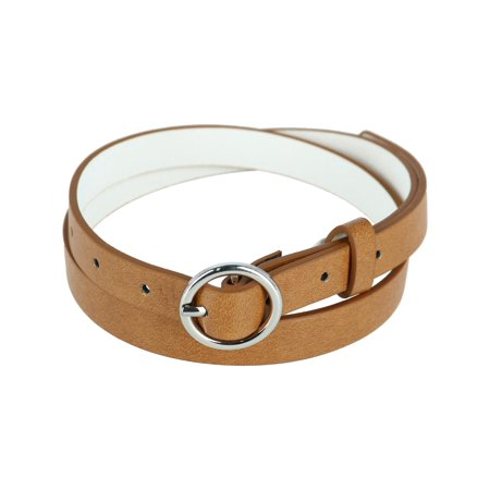 CTM®  Bridle Belt with Circle Buckle (Women's)