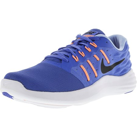 buy online cc2db 61d4b Nike Women s Lunarstelos Medium Blue   Black Sunset Glow Ankle-High ...