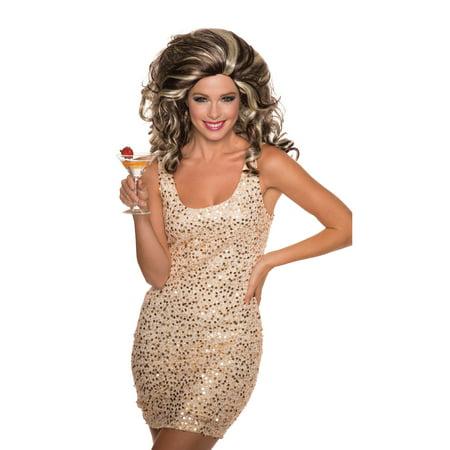 Anita Cocktail Blonde/Brown Wig