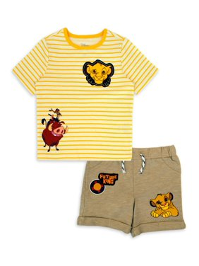 Disney The Lion King Baby Boy T-shirt & Shorts, 2pc Outfit Set
