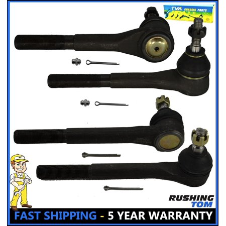 Outer and Inner Tie Rod Ends Steering Set For Chevy Astro GMC Safari Van 4WD (4)