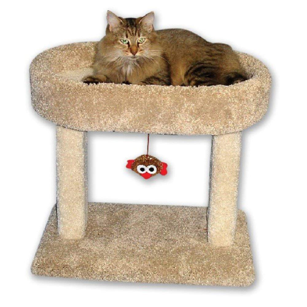 """Beatrise 21"""" x 13"""" x 21"""" Carpeted Kitty Cradle Cat Condo Bed and Scratching Post by Beatrise Pet Products"""