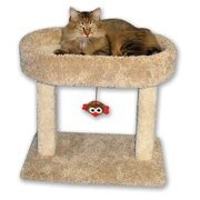 Beatrise Pet Products 21-in Cat Tree & Condo Scratching Post Tower, Brown