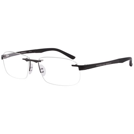 Porsche Design Eyeglasses P'8214 P8214 B Matte Black/Titanium Optical Frame (Eyeglass Frame Design)