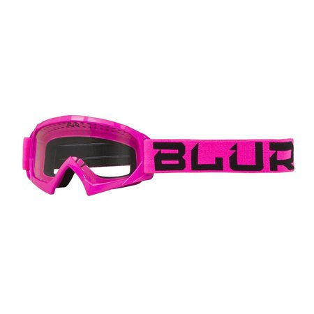 Blur - 6024-116 - Youth B-10 Offroad Motocross Goggle - Pink/Black