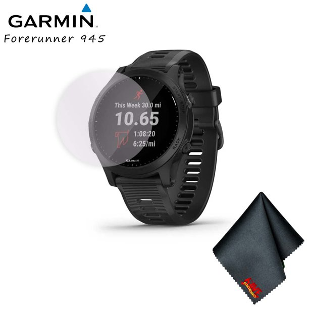 Garmin Forerunner 945 GPS Smartwatch with Music (Black) Standard Bundle