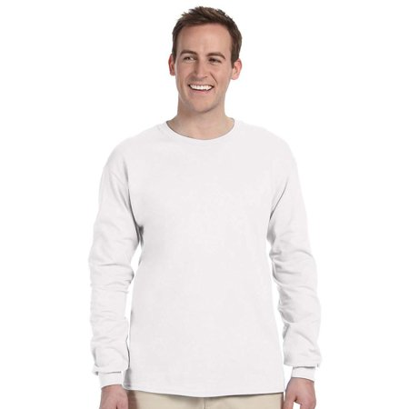 Beige Heather - Fruit of the Loom Pack2 Men's Ribbed Cuffs Jersey T-Shirt, Style 4930-Pack2