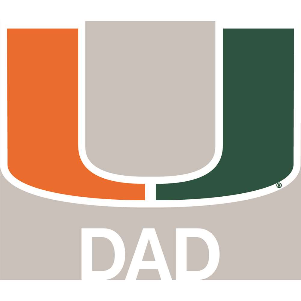 Miami Hurricanes Transfer Decal - Dad