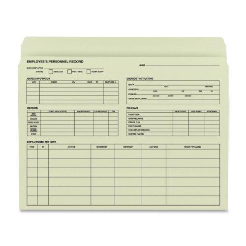 Smead Manufacturing Company Employee Record File Folder, 11-1/2''x9-1/2'', 20 per Pack, Manila