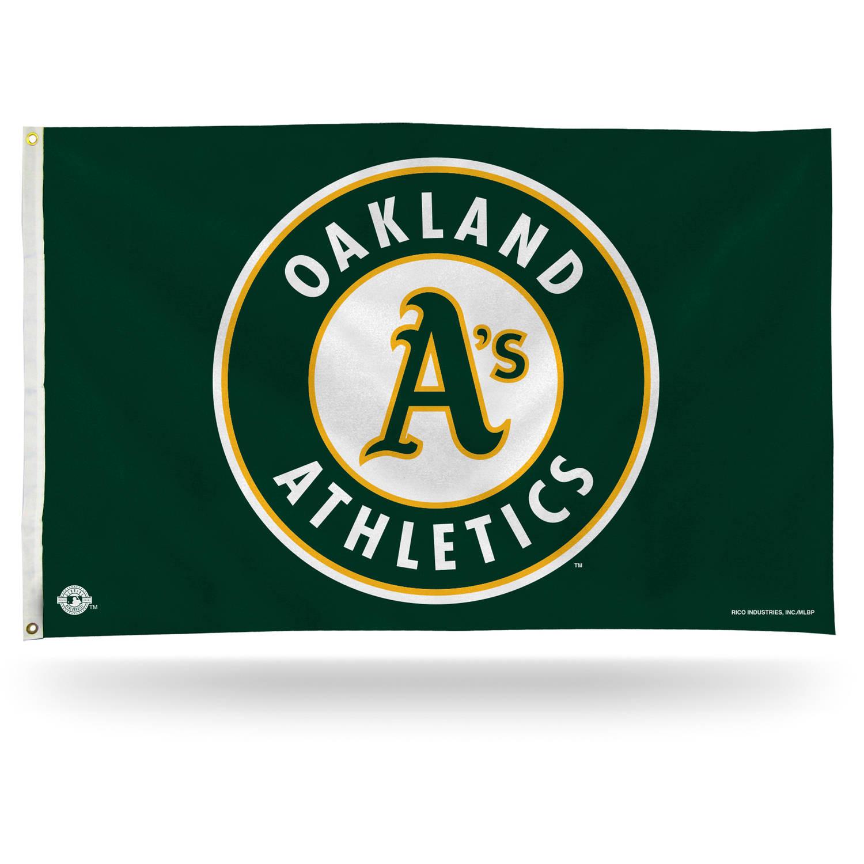Rico Industries MLB 3' x 5' Banner Flag, Oakland Athletics