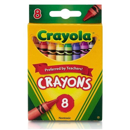 Crayola Regular Size Crayons, 8 Colors Per Box, Set Of 24 - Box Of Crayons