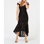 Womens Gown Floral Lace Off The Shoulder Midi 8