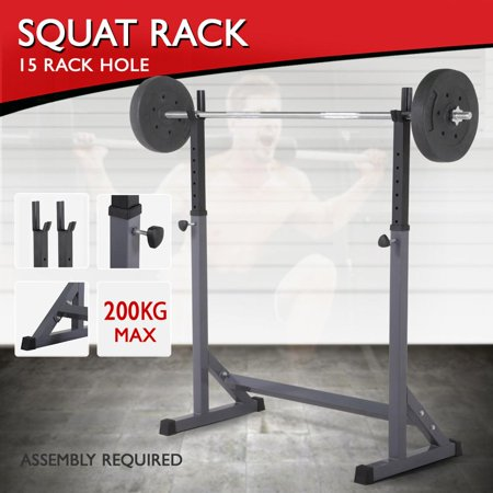 Yaheetech 44.5 72 adjustable squat rack dipping station barbell
