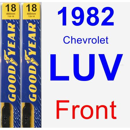 1982 Chevrolet LUV Wiper Blade Set/Kit (Front) (2 Blades) - Premium 1982 Chevrolet Luv Engine