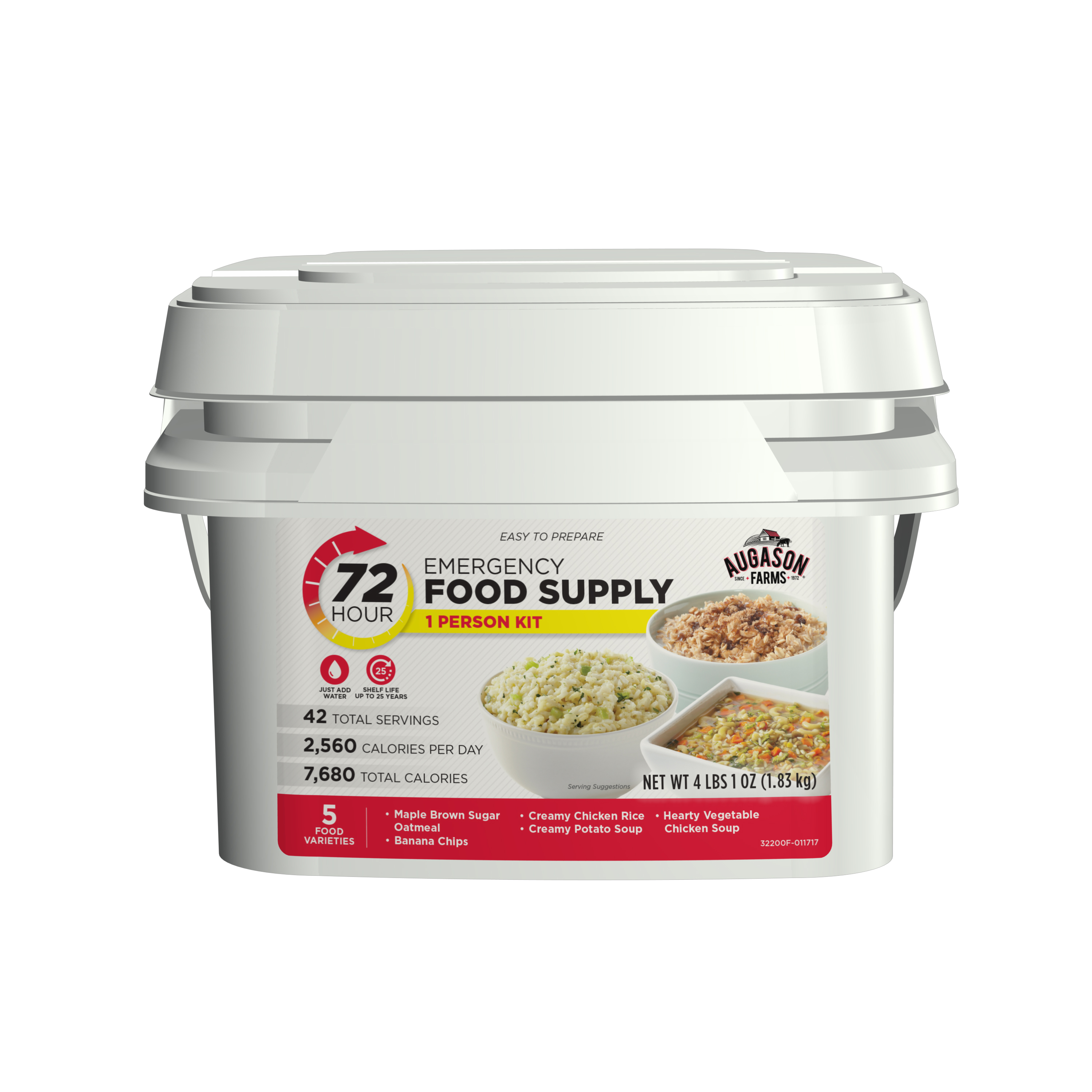 Augason Farms 72-Hour 1-Person Emergency Food Supply Kit 4 lbs 1 oz