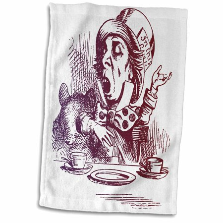 Mad Hatter Tea Party Outfits (3dRose Mad Hatter Tea Party vintage Alice in Wonderland - Towel, 15 by)