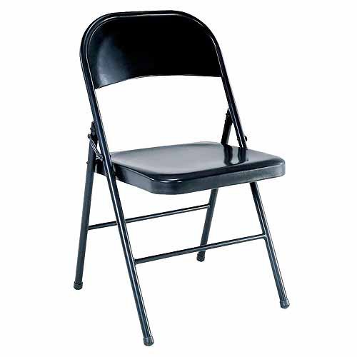 Mainstays Steel Folding Chair Black Walmart Com Walmart Com
