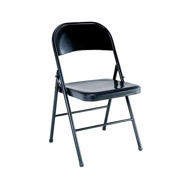 Mainstays Steel Black Folding Chair - Walmart.com - Walmart.com