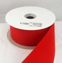 """Embassy Red Velvet Non-Wired Outdoor Christmas Ribbon 2 1/2"""" or #40 - 25 Yards - Case of 12 Rolls"""