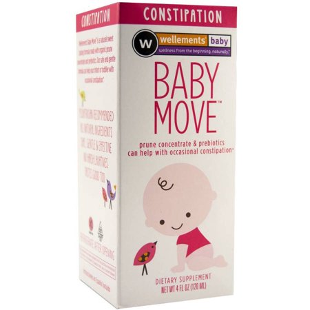 Wellements Baby Move Constipation Dietary Supplement, 4 fl oz (Baby Moves)