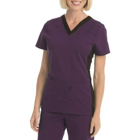 Scrubstar Women's Premium Collection Flexible V-Neck Scrub Top (Dickies Scrub Top Missy Fit)
