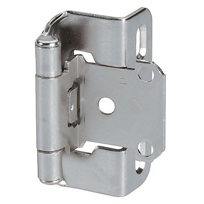 Amerock 0.50 in. Overlay Half Wrap Self-Closing Hinge - Set of 2