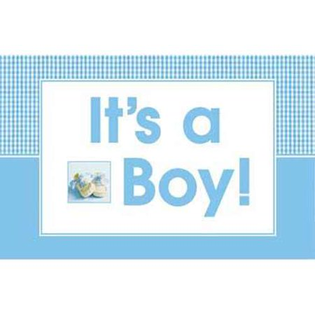 Baby Shower Boy Shoes Wall Banner (1ct) (Its A Boy Banner)