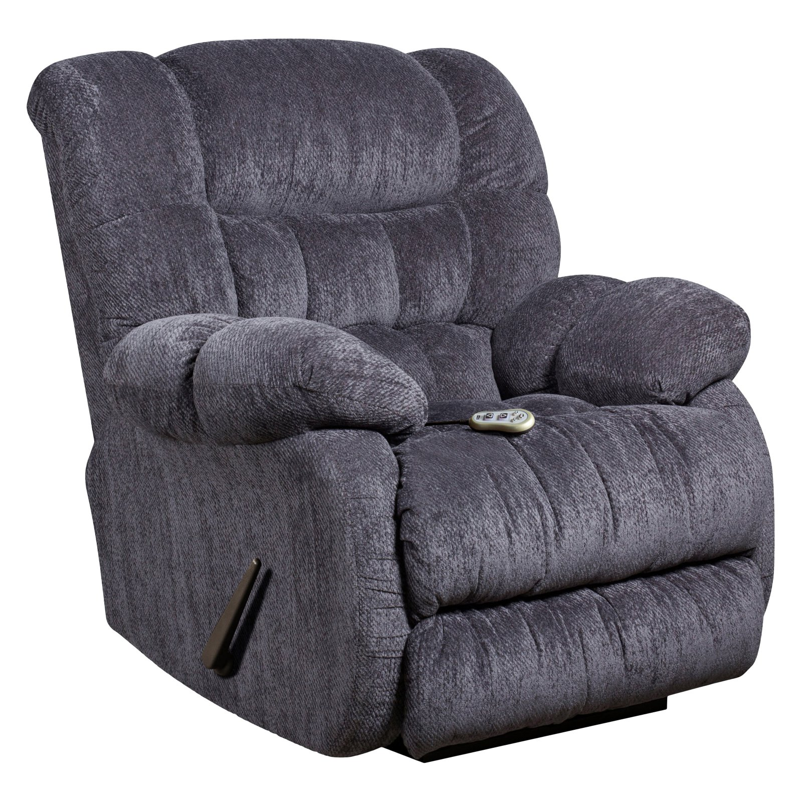 Flash Furniture Massaging Columbia Indigo Microfiber Rocker Recliner with Heat Control, Multiple Colors
