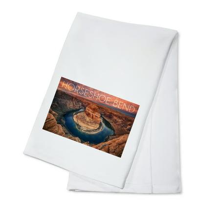 Horseshoe Bend  Arizona   Lantern Press Photography  100  Cotton Kitchen Towel