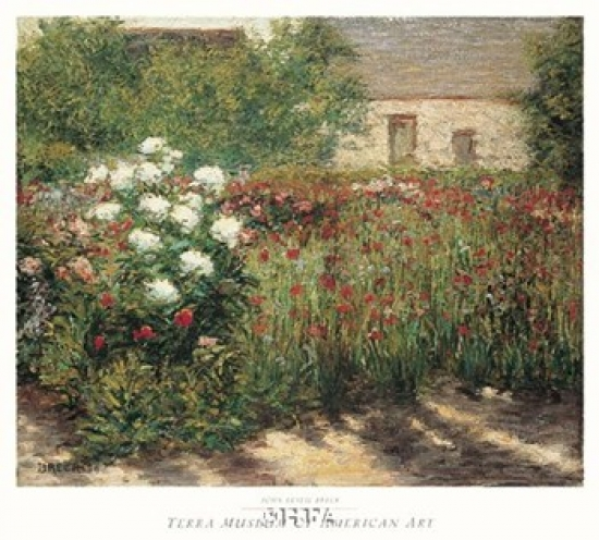 Garden at Giverny, c. 1890 Poster Print by John Leslie Breck (25 x 25)