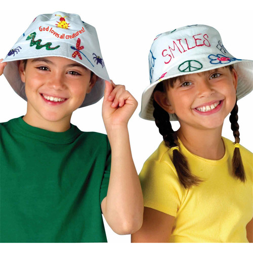 Color Me Bucket Hats, Pack of 12