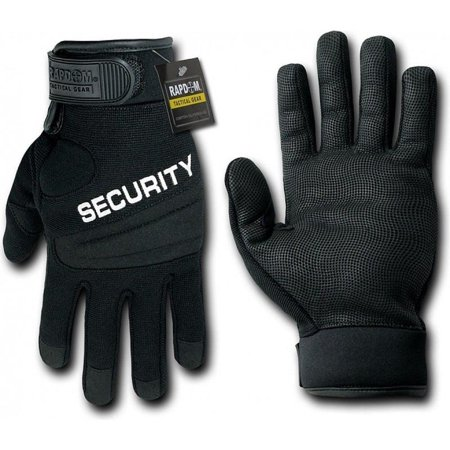 RapDom Tactical Security Black Digital Leather Duty Gloves (S)