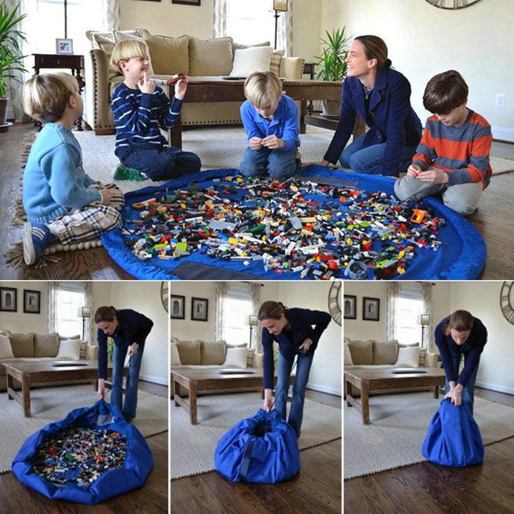 Portable Kids Children Toy Organizer Storage Bag Baby XL 150cm  Play Mat Rug
