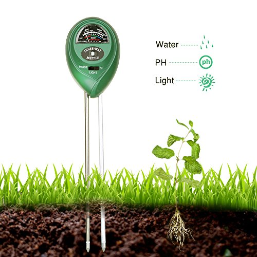 Covery 3 in 1 Soil Tester Moisture Meter Light and PH acidity Tester Plant Tester for Garden Farm Lawn Indoor & Outdoor (No Battery needed) Easy Read Indicator