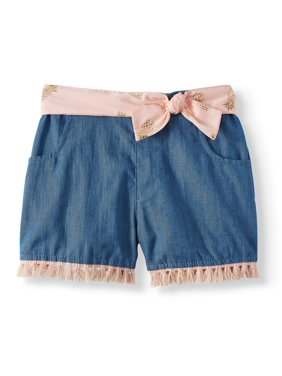 0b235d64a0 Product Image Wonder Nation Denim Short with Sash Belt (Toddler Girls)