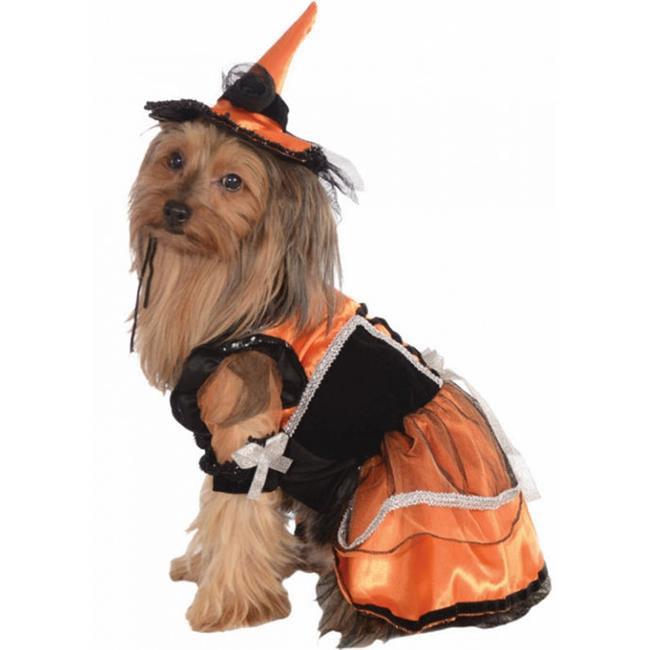 Pet Costume Orange Witch Lg