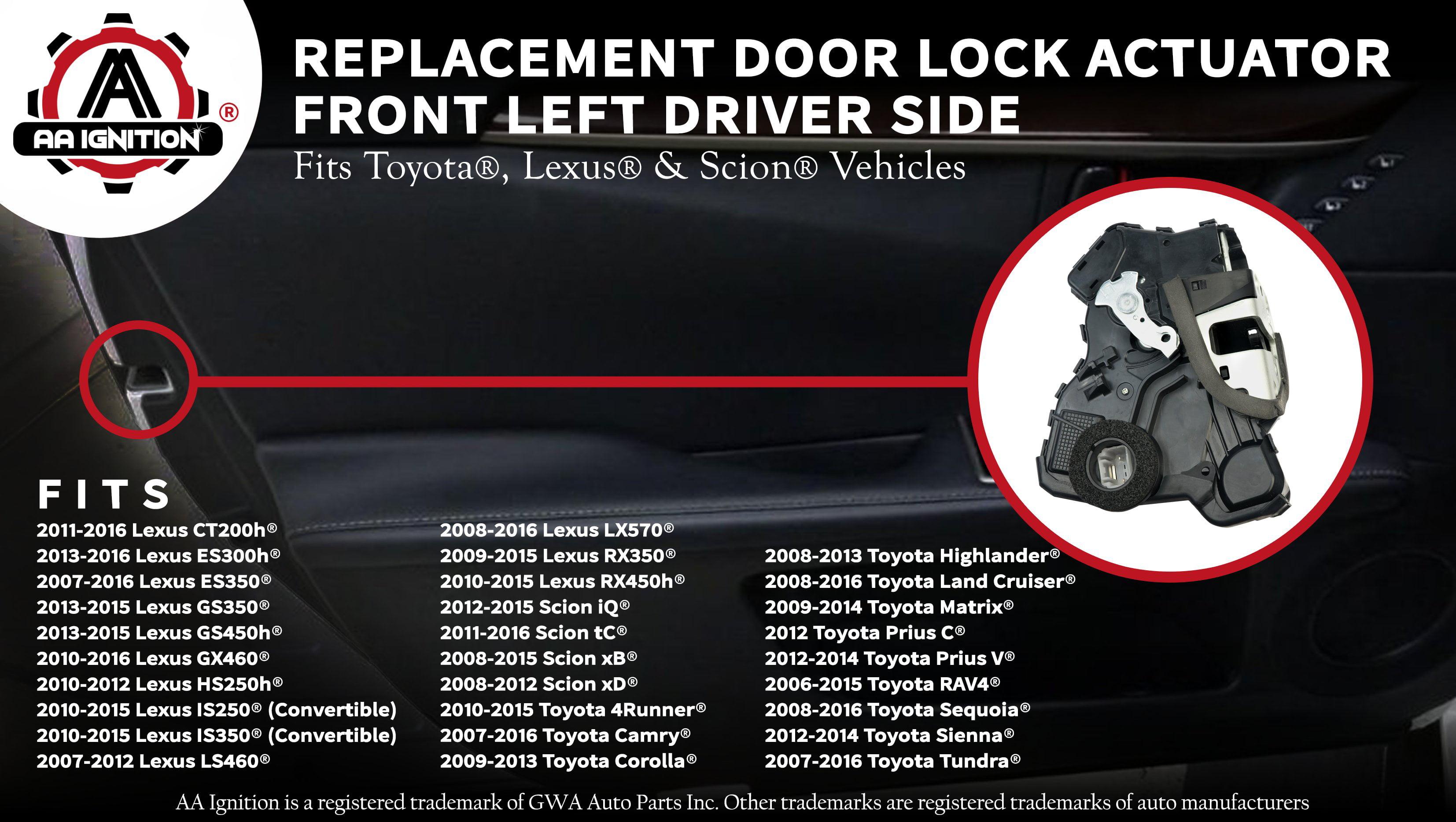 Door Lock Actuators Door Front Left for Toyota Prius C 2012 Prius V 2012-2015