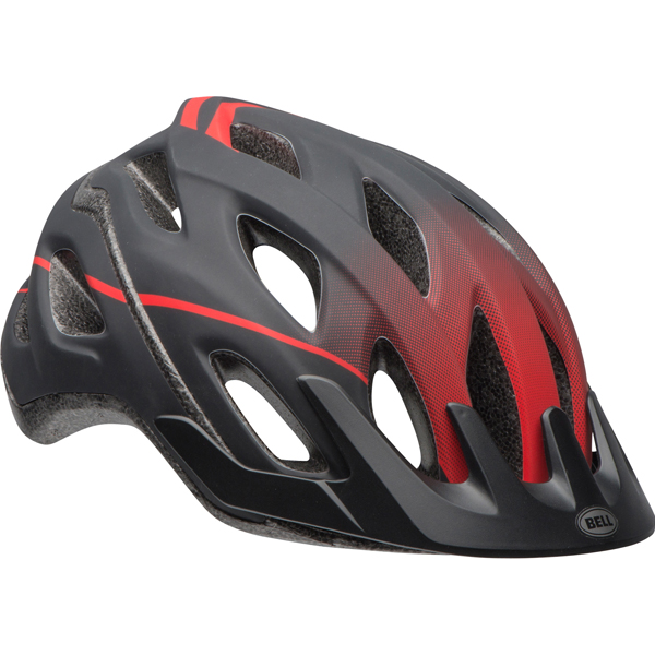 Bell Sports Passage Trophy Adult Bike Helmet, Black/Red
