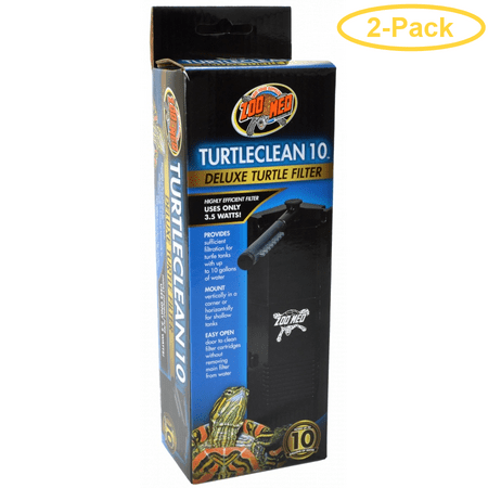 Zoo Med TurtleClean Deluxe Turtle Filter 10 Gallons - Pack of (Best Zoo Med Thermostats)