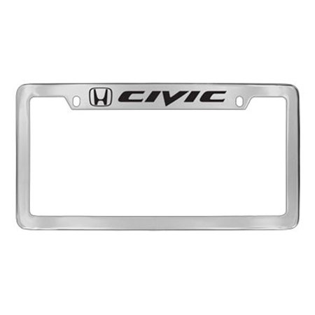 Honda Civic Chrome Plated Metal Two Hole Top Engraved License Plate ...