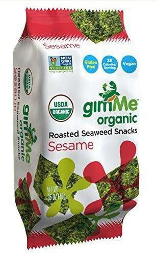 12 Pack : Gimme Roasted Seaweed Snacks, Sesame, 0.35 Ounce by
