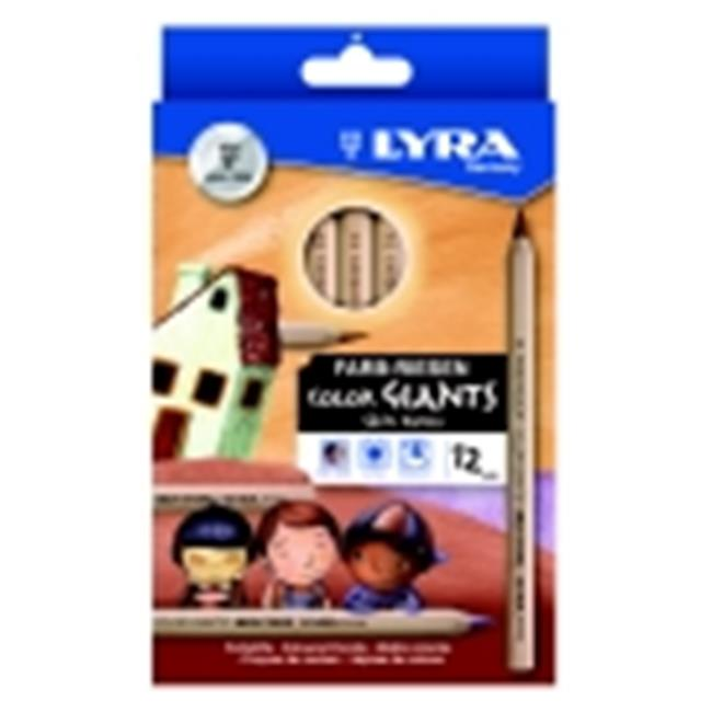 Lyra Color Giants Hexagonal Non-Toxic Drawing Pencil, Pack - 12