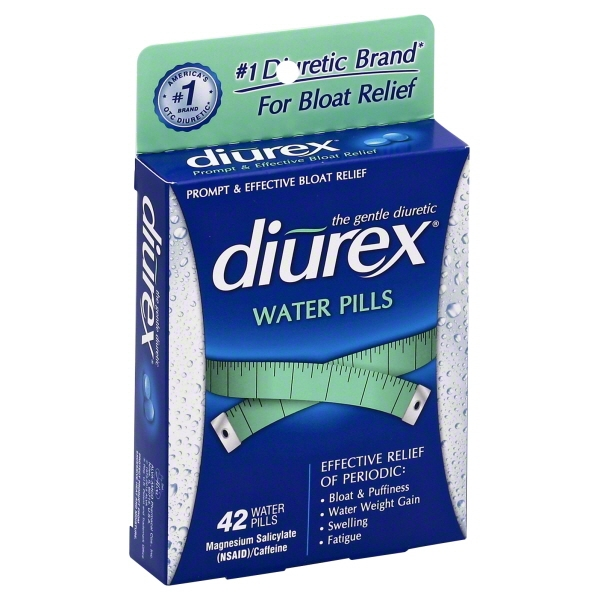 Diurex Water Weight Loss Pills to Reduce Bloating & Fatigue, 42 Ct