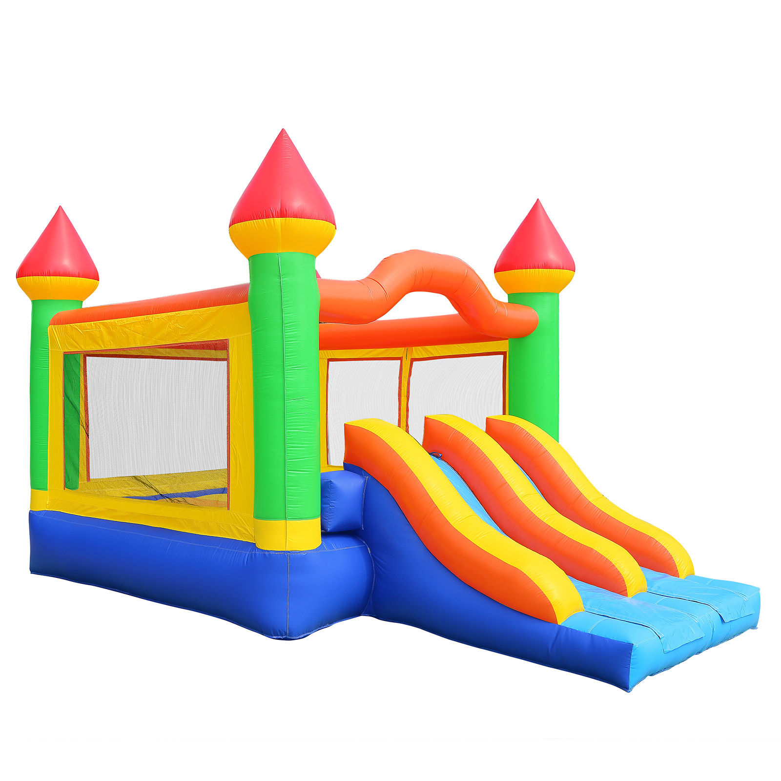 Inflatable HQ Commercial Grade Mega Double Slide Castle Bounce House 100% PVC and Blower by Inflatable HQ